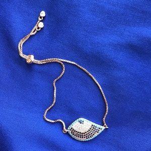 NEW Evil Eye Rose Gold Plated Adjustable Bracelet
